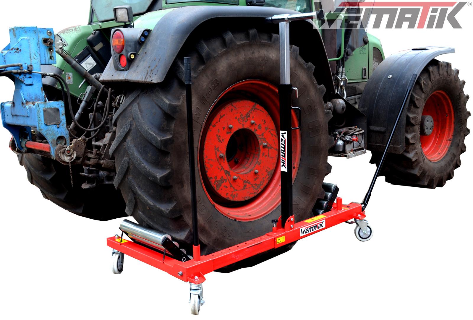 reifenwechselwagen wematik reifen rad wechsel montagehilfe traktor hydr lkw 1 2 ebay. Black Bedroom Furniture Sets. Home Design Ideas